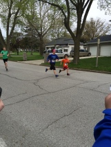 Evan's first 5K! And he finishes strong!
