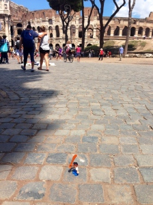 Jake at the Flavian Amphitheater in Rome.